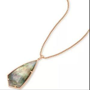 NWT Kendra Scott Carole Necklace Rose Gold